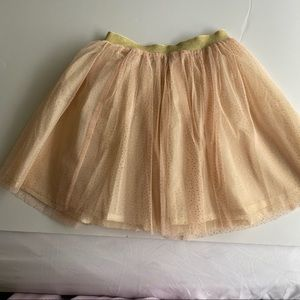 NWOT Kids Tulle Tutu Skirt Beige Size 5-6 years